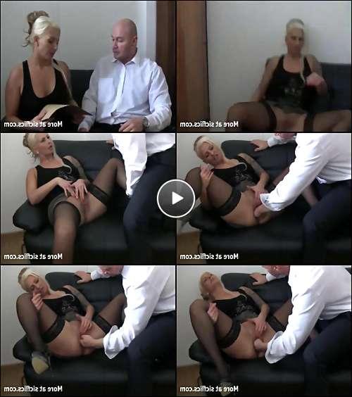 curvy blonde porn video